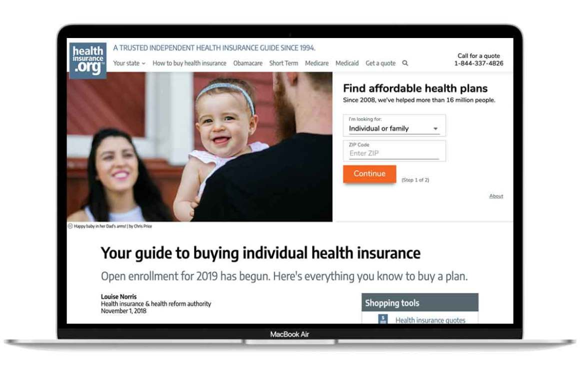 healthinsurance.org's front page