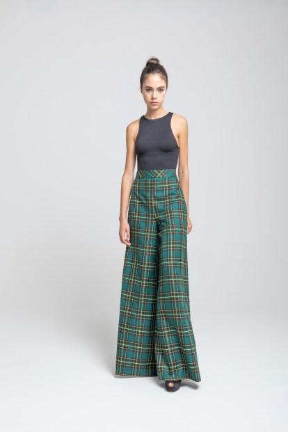 Poupine - verde tartan pantalone