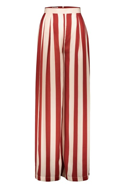 Poupine bordeaux Striped trousers