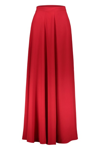 Poupine red Wrap skirt