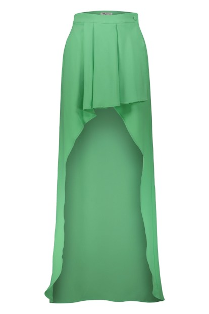 Poupine green Wrap skirt with ruches