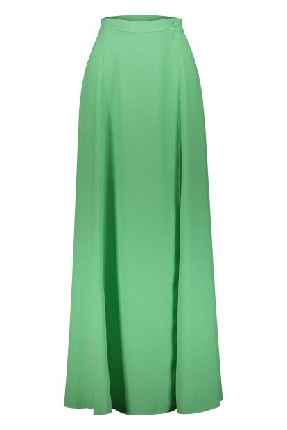 Poupine green wrap skirt