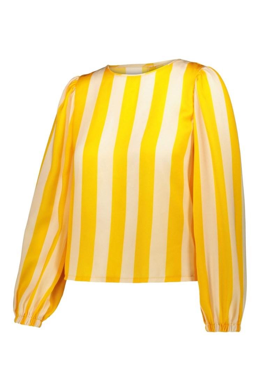Poupine top righe gialla