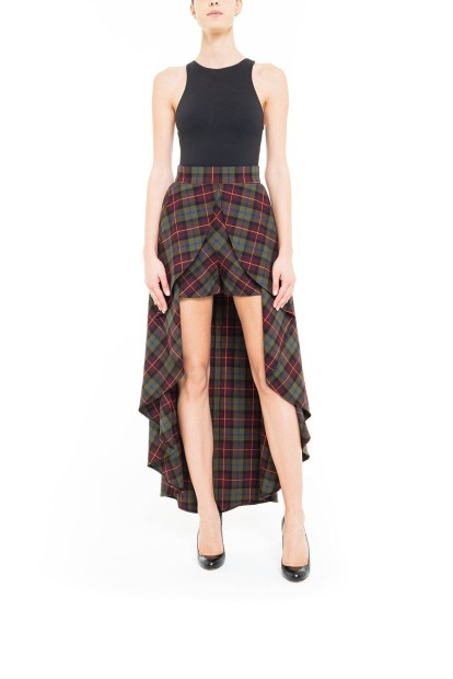 Gonna pantalone tartan Marrone