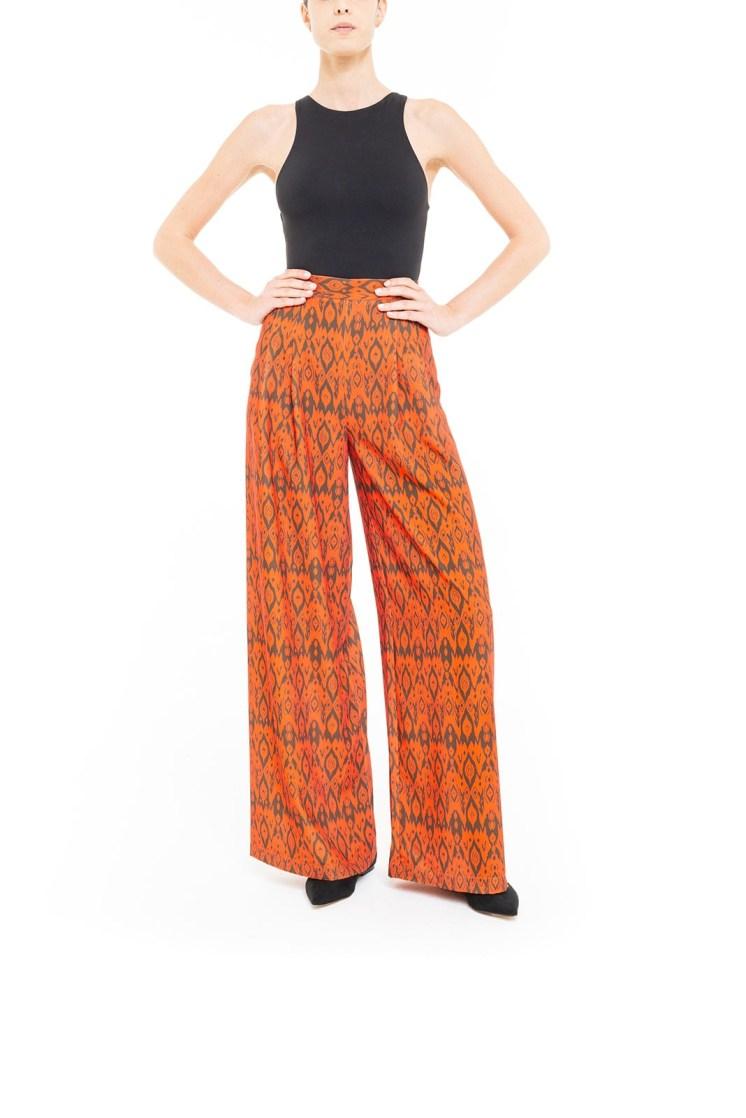 Pantalone ikat Arancio e Marrone
