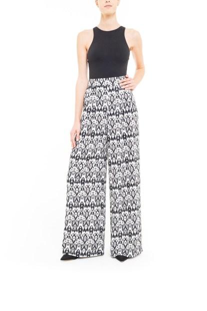 Pantalone ikat Bianco e Nero