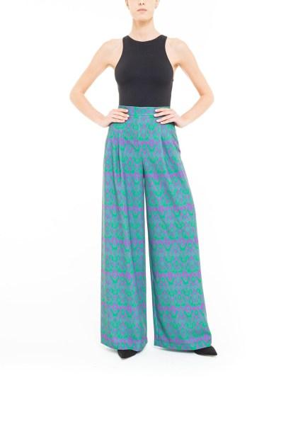 Pantalone ikat Viola e Verde