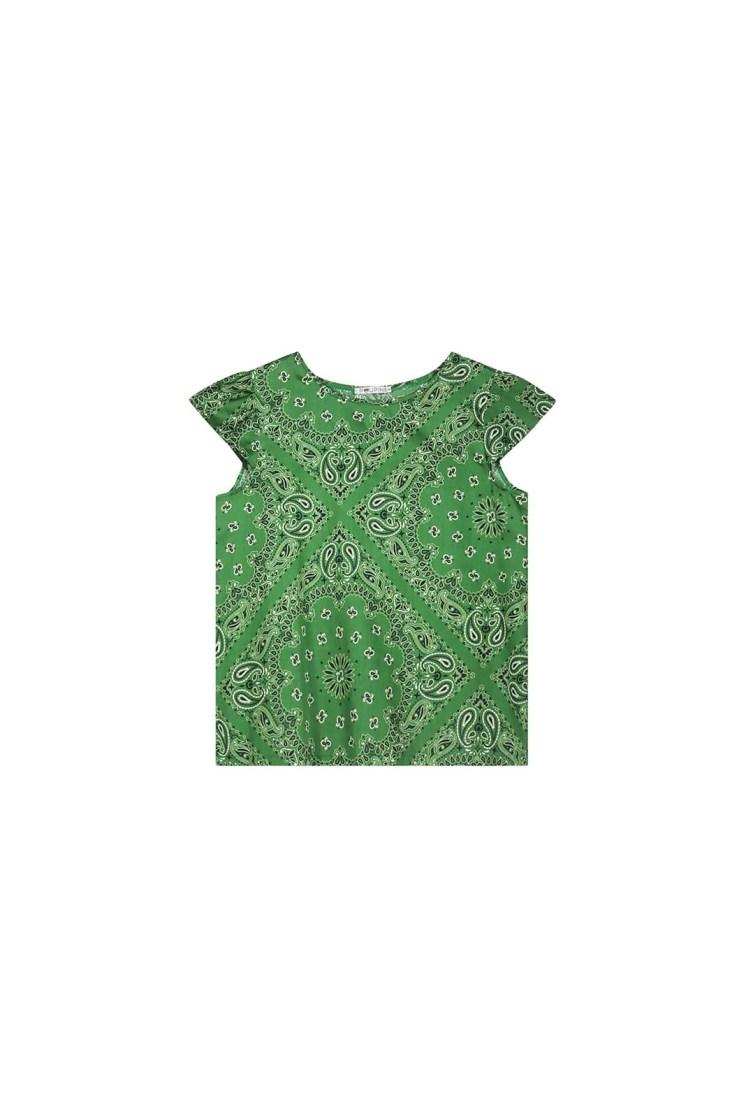 Top – bandana verde Poupine
