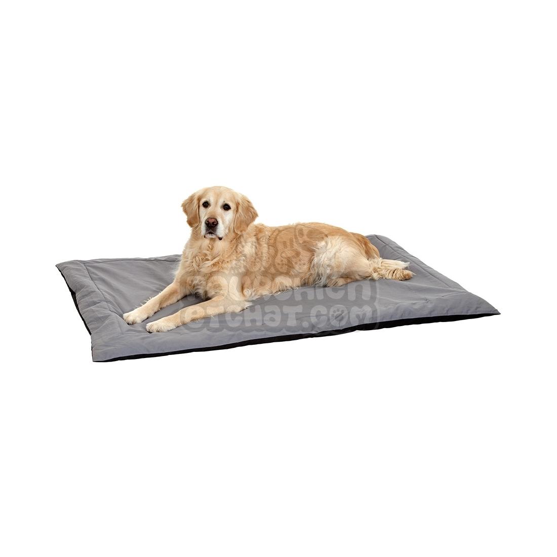 tapis pour chien doc bed noir et gris taille 100 cm