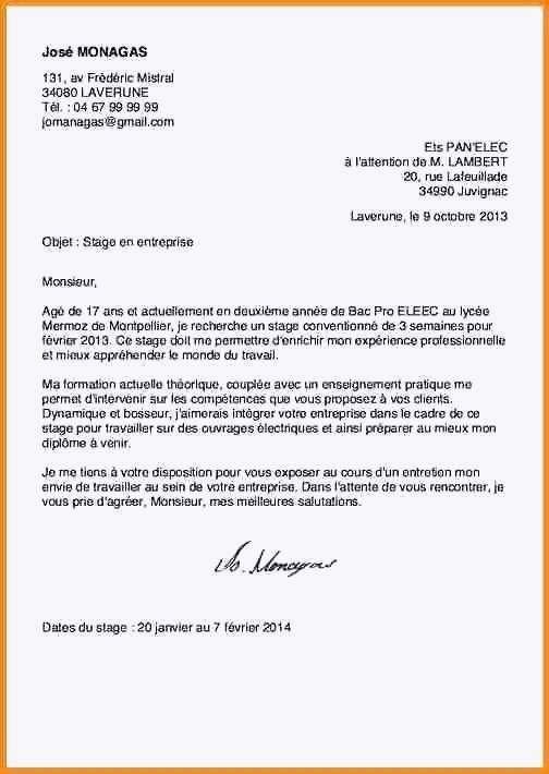 lettre de motivation bac pro assp lettre de motivation assp beau lettre de motivation stage bac