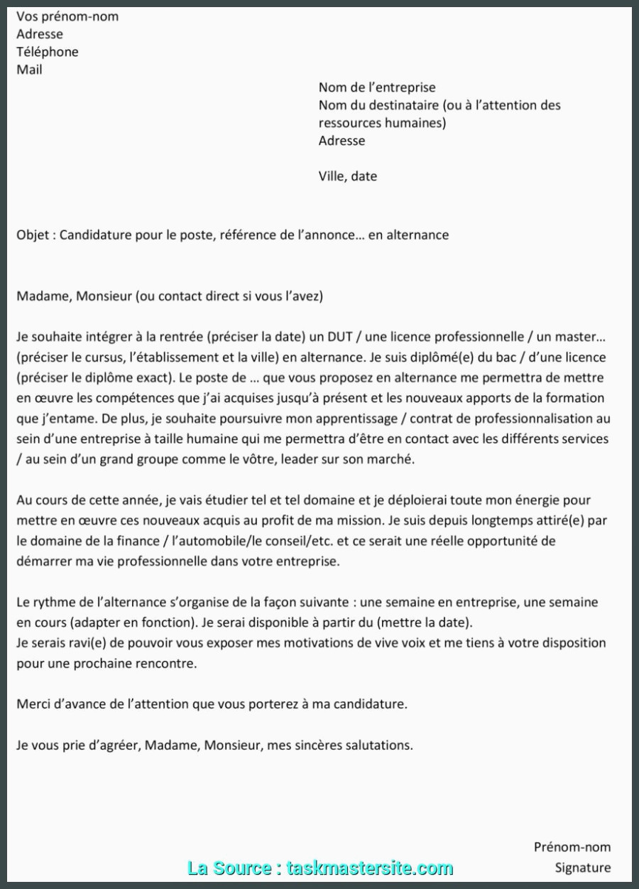 Lettre De Motivation Licence Chimie Avancée Lettre De Motivation Alternance Licence Chimie Lettre De