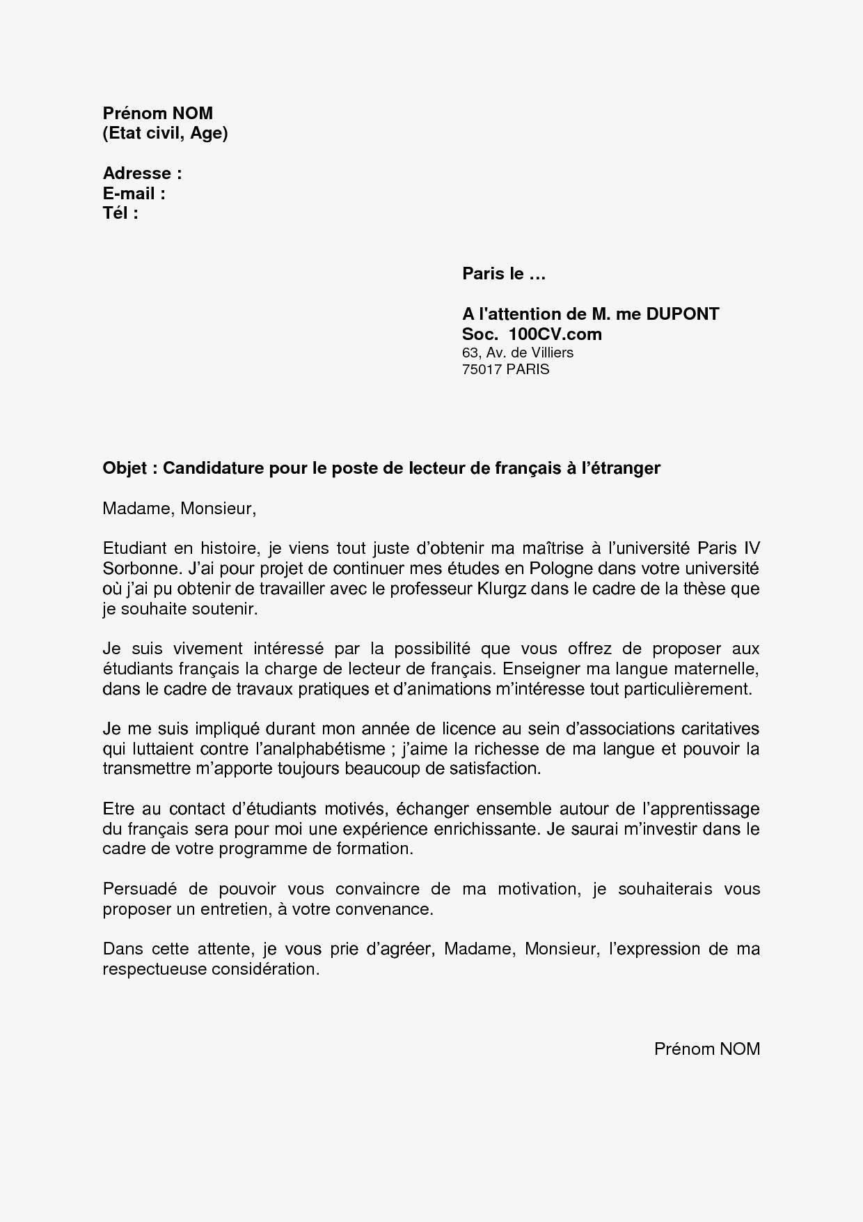 66 Lettre De Motivation Stage 3eme Commerce