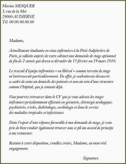 Lettre Motivation Infirmiere Lettre De Motivation Sciences Po