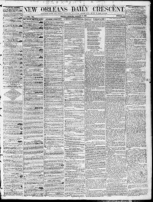 Reclamation La Poste Pro New orleans Daily Crescent [new orleans La ] 1851 1866 October