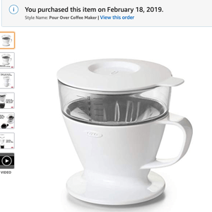 oxo-brew single serve pour-over coffee world