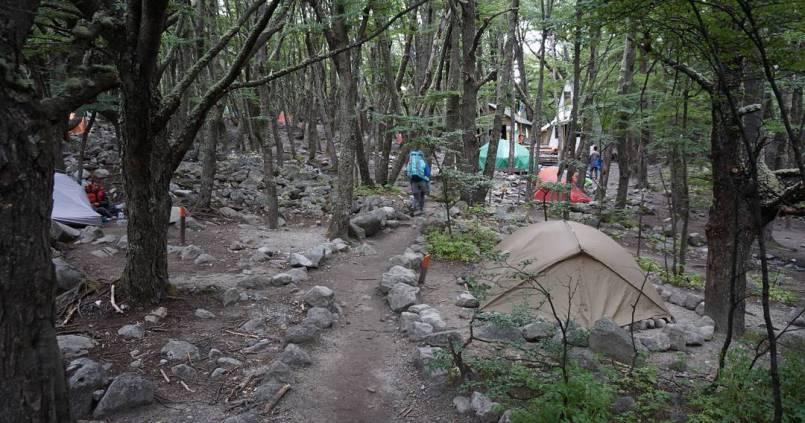 Notre dernière nuit en camping aux pieds des Torres. 1