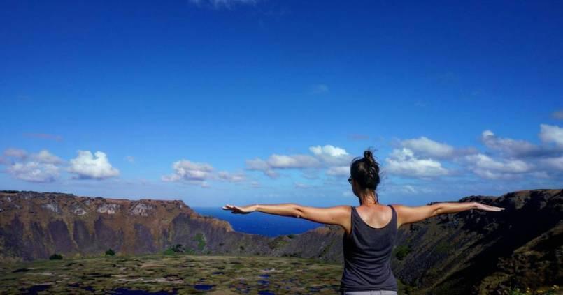 Non il n'y a pas que des Moia à l'île de Pâques, il y a aussi des volcans incroyables 1