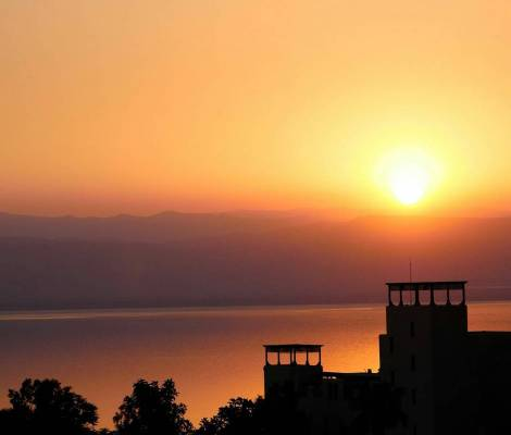 Couché de soleil sur la mer morte. 🌅 #mermorte #deadsea #jordan #jordanie #travel #sunset 1