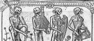 Danse macabre-squelettes musiciens
