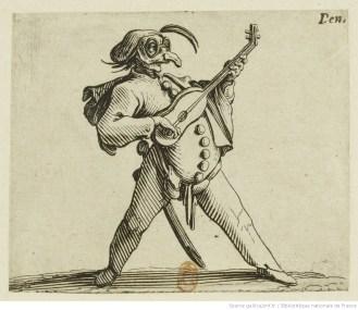 20-Pulcinella jouant de la guitare