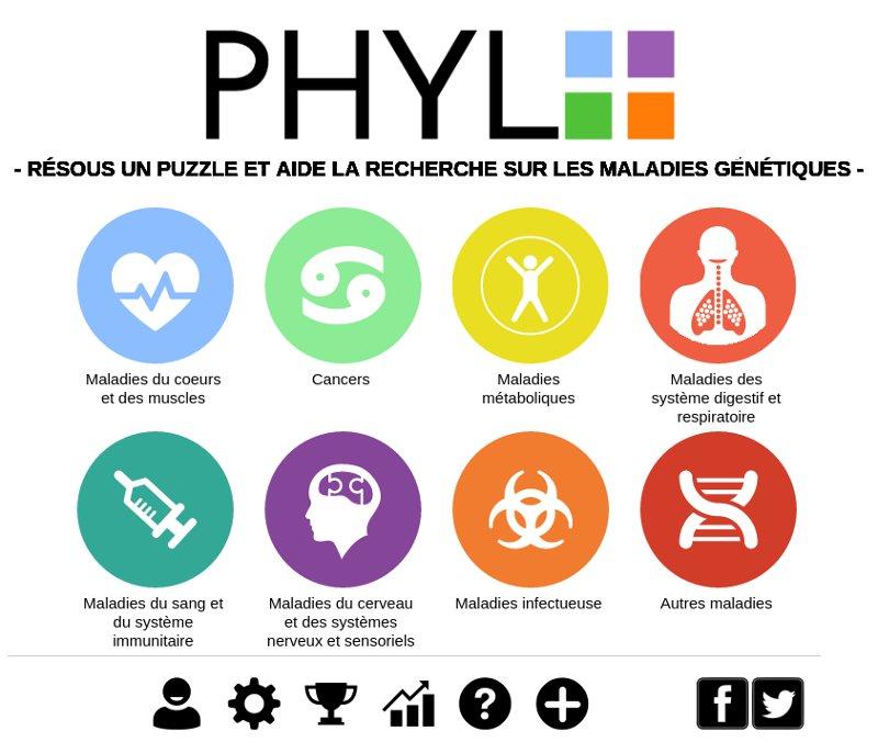 capture de la page d'accueil de Phylo