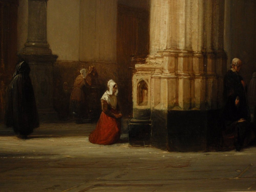 Détail : Johannes Bosboom - Interior of St-John's - 1840