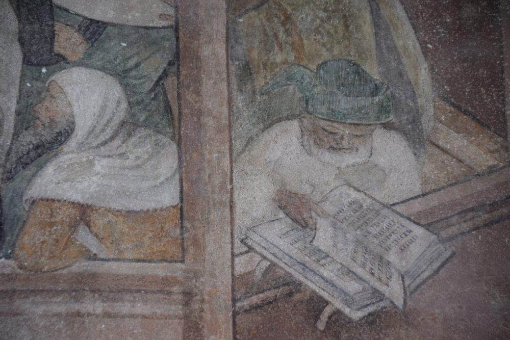 fresque de l'abbaye d'Abondance
