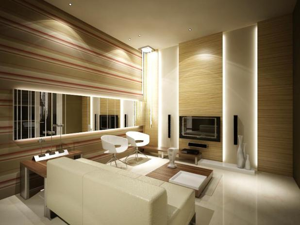 natural-living-room-by-ryosakazaq Creative 10 Ideas for Residential Lighting