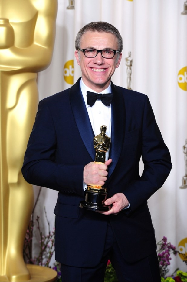movies-oscars-christoph-waltz-django-unchained_1 The 10 Most Famous Male Actors with Awards