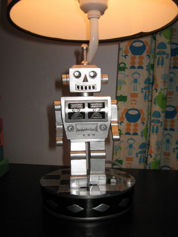 RobotNursery8 35 Amazing Robo Lamps for Your Children's Room