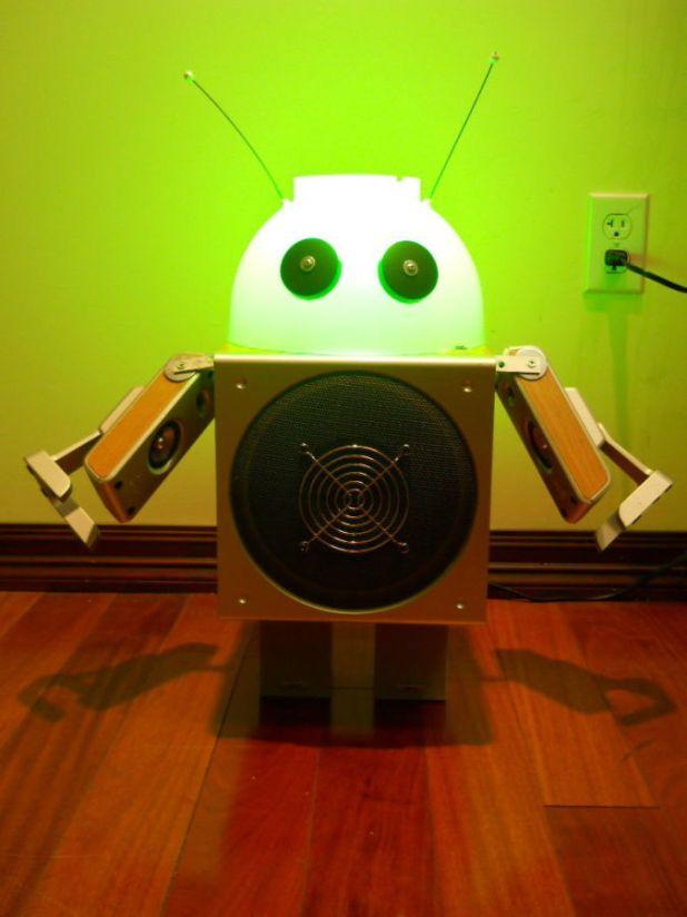 illuminated 35 Amazing Robo Lamps for Your Children's Room