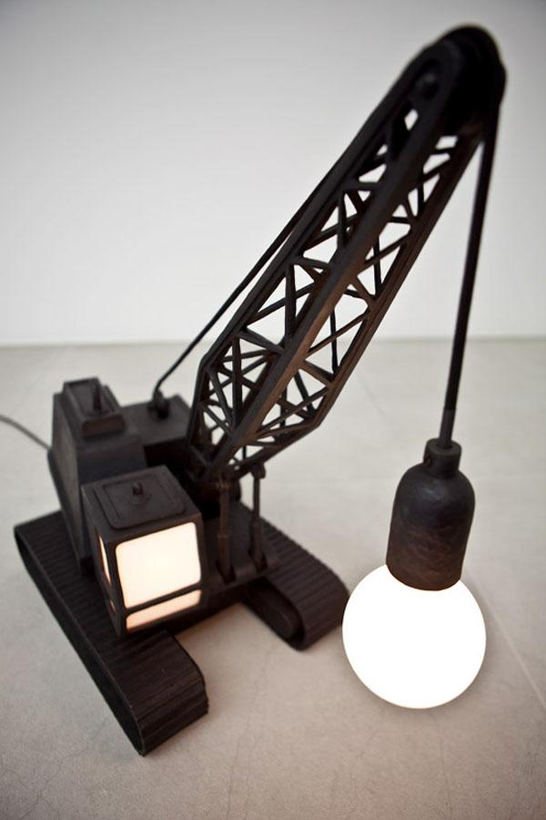 WreckingBallLampCraneLampStudioJob3 30 Most Creative and Unusual lamp Designs