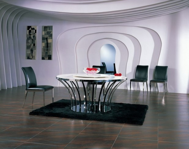 ltalian_leather_dining_chair_stainless_steel_modern_dining_room_furniture 45 Most Stylish and Contemporary Dining rooms
