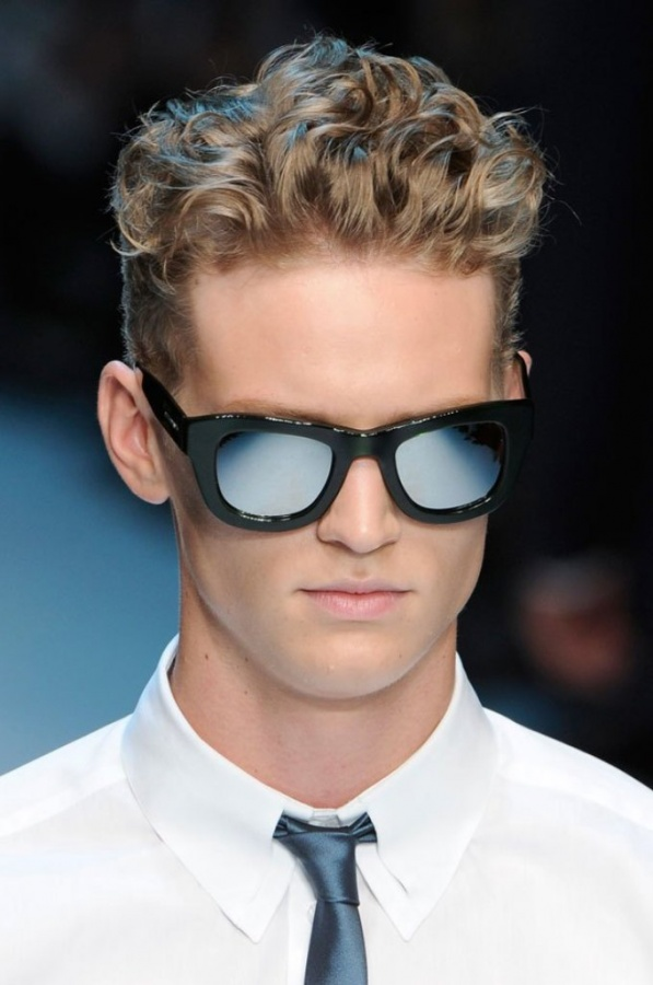 mens-curly-hairstyles-with-glasses 2014 Hot Trends in Men's Glasses