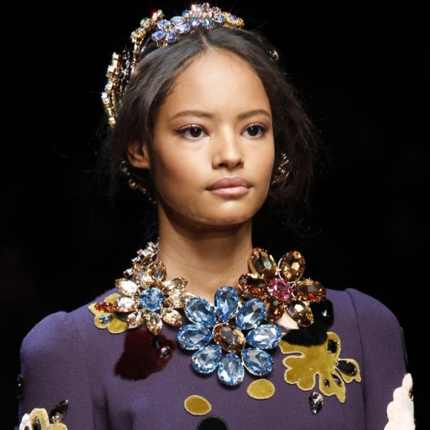Dolce-Gabbana-Crystal-flowers-Necklace Hottest Christmas Jewelry Trends 2015