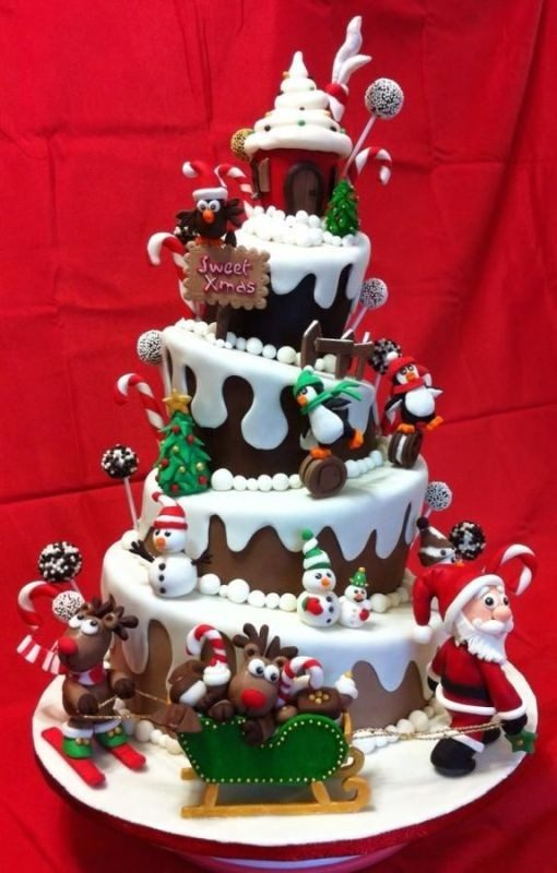 Christmas-Cake-Decoration-Ideas-2017-13 82 Mouthwatering Christmas Cake Decoration Ideas 2017