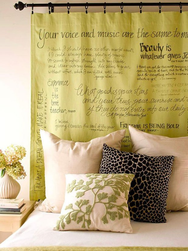Favorite-Quotes-Curtain4 Easy And Creative Curtains Designs To DIY