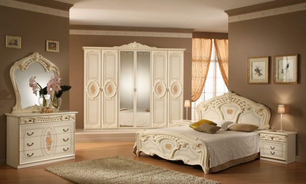 Charming-Bedroom-Furniture-Sets-And-Simple-Bedroom-Queen-Design-With-White-Wooden-Bedroom-Furniture-Ideas-Also-Exciting-Carved-Mirror-Bedroom-Decorating-Ideas 5 Stylish Bedroom Designs For Your Comfort
