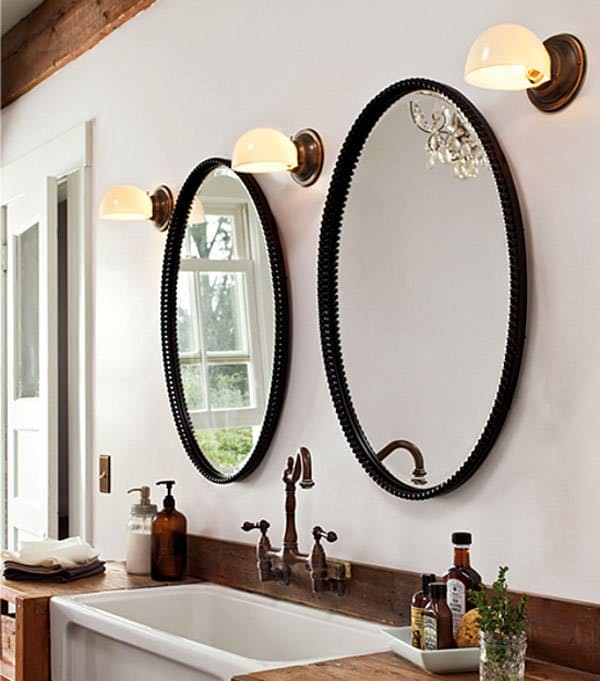 His-and-hers-mirrors8 27+ Trendy Bathroom Mirror Designs of 2017