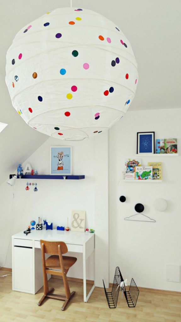colorful-paper-lantern-lamp 20+ Ceiling Lamp Ideas for Kids' Rooms in 2017