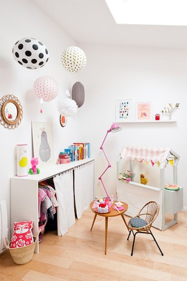 colorful-paper-lantern-lamps 20+ Ceiling Lamp Ideas for Kids' Rooms in 2017