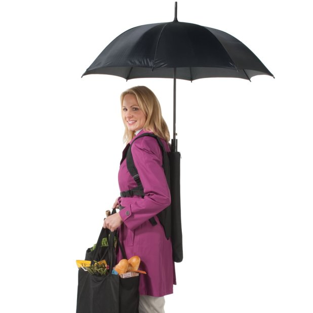 Backpack-Umbrella1 15 Unusual Designs For Umbrellas