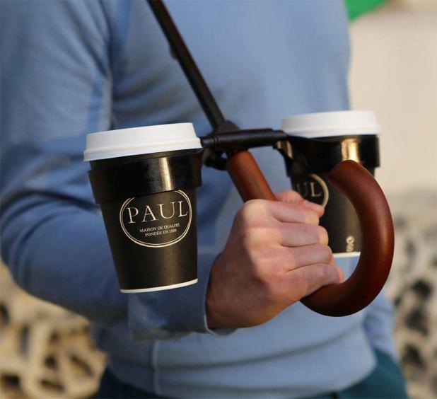Coffee-Holder-Umbrella1 15 Unusual Designs For Umbrellas