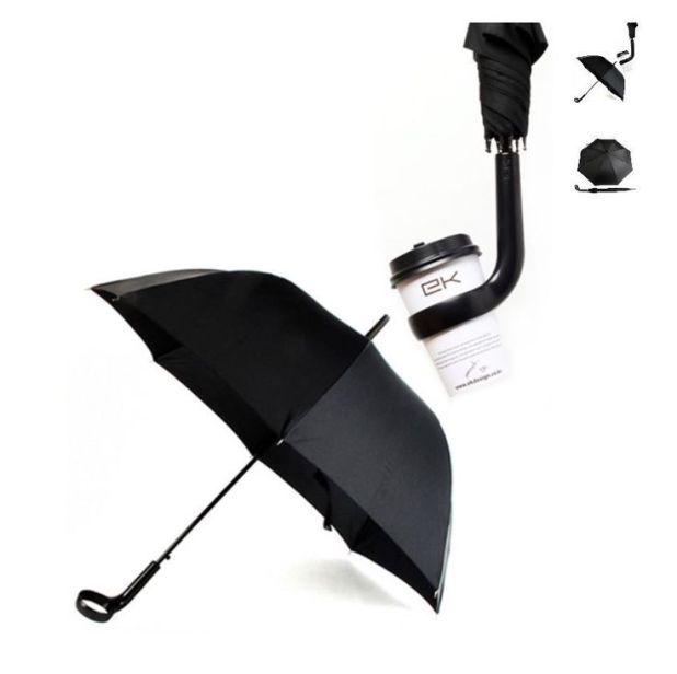 Coffee-Holder-Umbrella2 15 Unusual Designs For Umbrellas