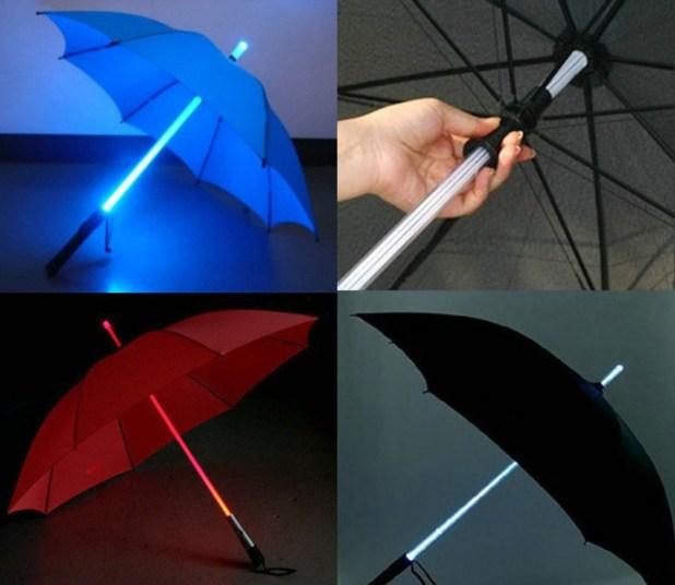 Light-Saber-Umbrella2 15 Unusual Designs For Umbrellas