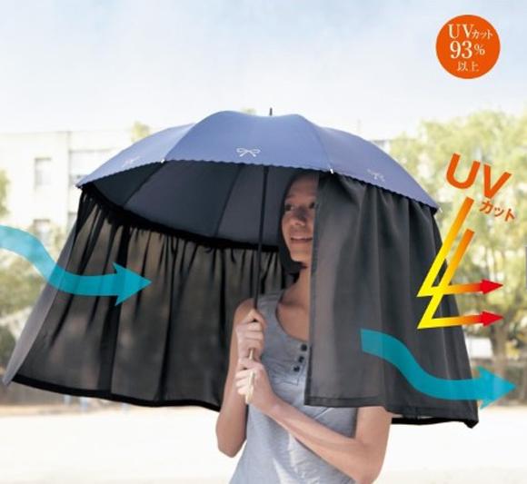Long-Curtain-Umbrella1 15 Unusual Designs For Umbrellas