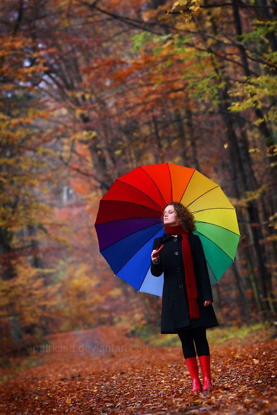 Rainbow-Umbrella2 15 Unusual Designs For Umbrellas