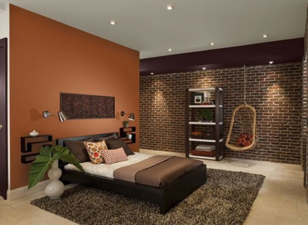 dark-orange-paint-colors-for-bedroom-with-dark-furniture-oct.2016-675x494 25+ Orange Bedroom Decor and Design Ideas for 2017
