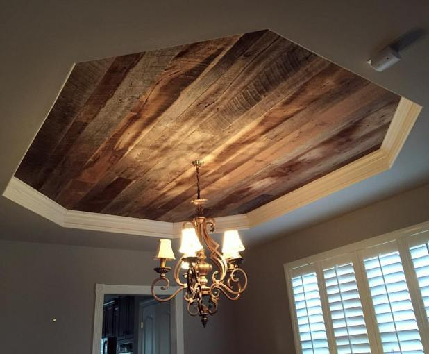 wooden-ceiling-tray-675x557 6 Designs of Suspended Ceiling Decors for 2017