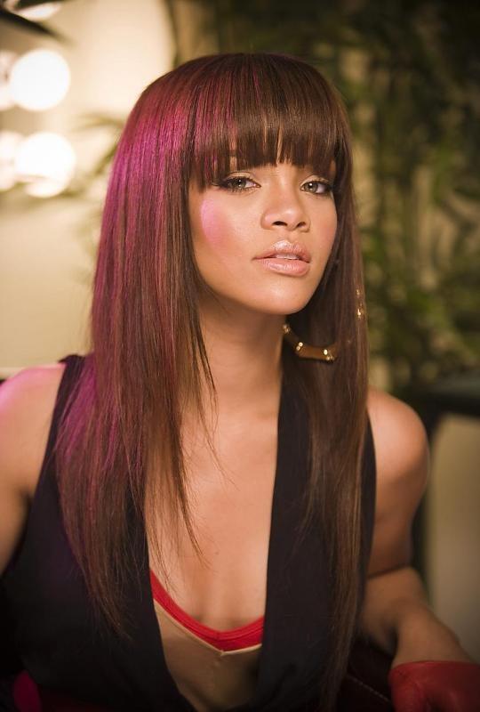 Rihanna-bangs